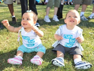 Shayne's twins, Abigail and Hunter, helped mom spread awareness at the 6th annual run for her 5K Run & Friendship Walk in 2010.