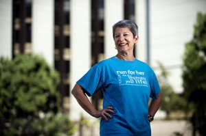Ovarian cancer survivor and Team Doreen co-captain